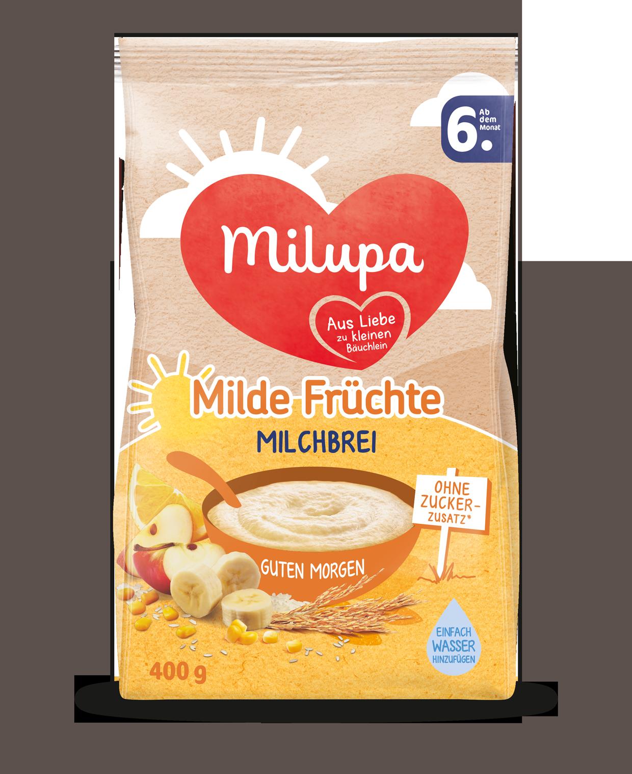 Guten Morgen Milde Früchte Milchbrei Ab Dem 6 Monat Milupa